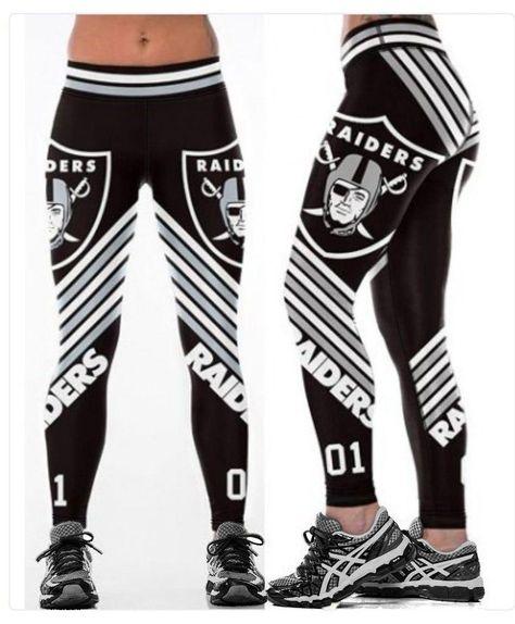 Oakland Raiders Print Leggings (Plus Sizes Available)
