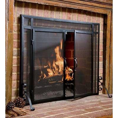Easton Prairie Cabinet Steel Fireplace Doors Fireplace Glass