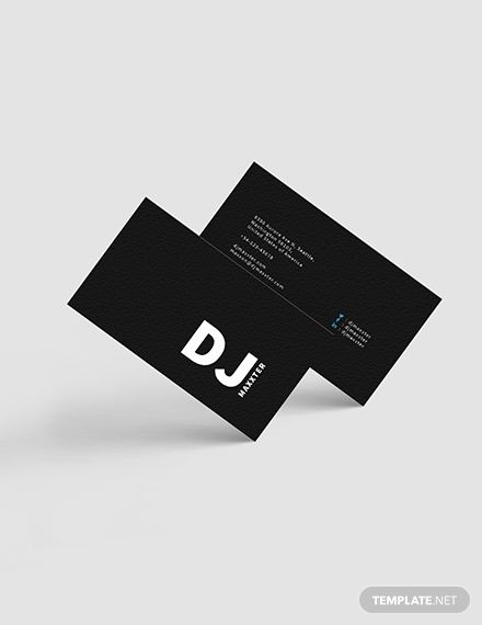 Modern Dj Business Card Template Word Doc Psd Apple Mac Pages Illustrator Publisher Dj Business Cards Business Card Template Word Professional Business Cards