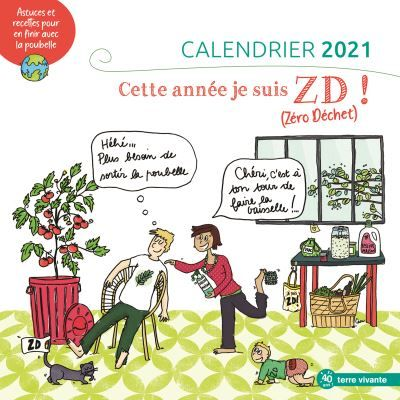 Cultura Calendrier 2021 Exemple de ma sélection d'agendas et calendriers écolos – zéro