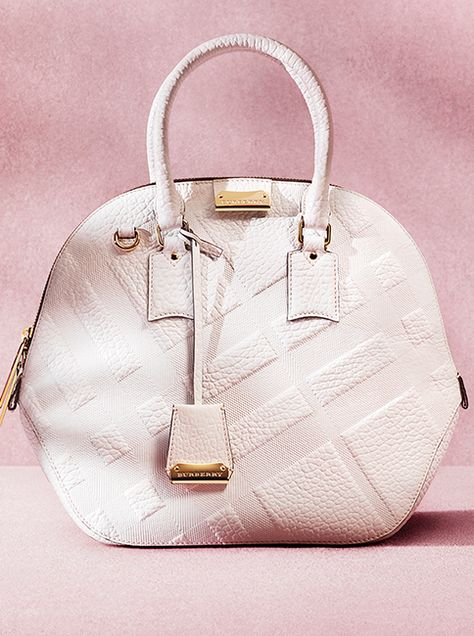Discover The Orchard - updated for Spring Summer 2014 in check embossed  white leather Burberry 41320086dc2dc