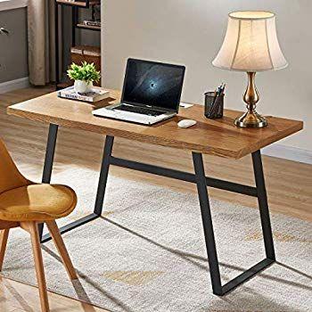Amazon Com Bon Augure Rustic Wood Computer Desk Industrial Pc