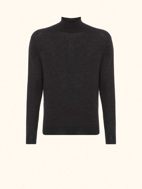 848f9c7f4f31d2 SPECTRE Cable Roll Neck Cashmere Sweater in Fumo Grey - N.PEAL Luxury  Cashmere | Aasha's Mens Fashion