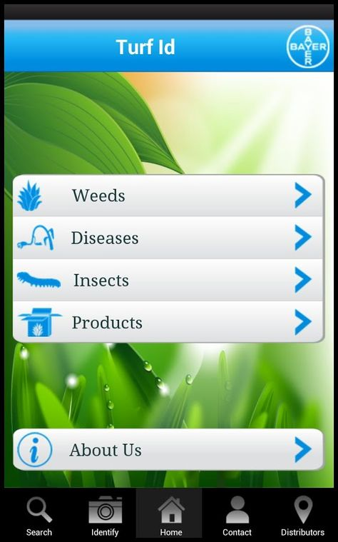 Bayer TurfXpert Turf ID guide iTunes and Nook Data