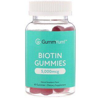 Gummyum Biotin Gummies Natural Strawberry Flavor 2 500 Mcg 60 Gummies Iherb Biotin Gummies Flavors