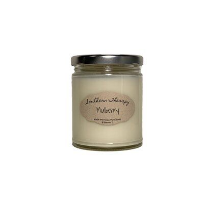 Southern Therapy Candles Mulberry Scented Jar Candle Scented Candle Jars Candle Jars Scented Tea Lights