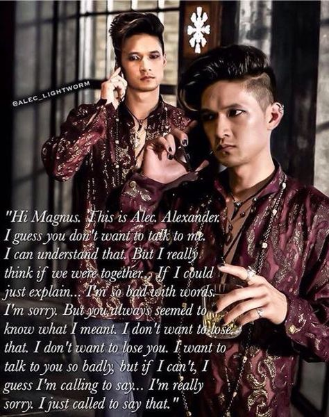 Malec... can we just not..this pains me to this day<<<ikr, it hurts.