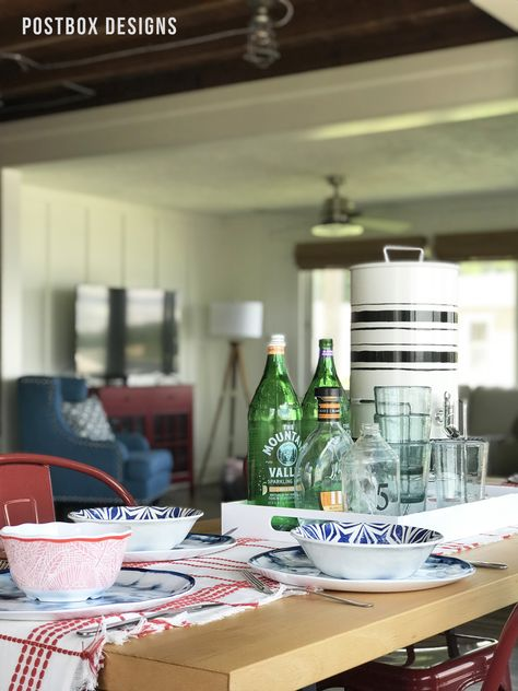 Postbox Designs Interior E Design How To Style Your Table For Summer A Tray Outdoor Living Via Online Lakehouse Dining