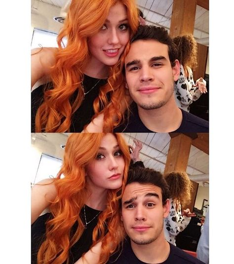 """Pin for Later: Shadowhunters: You're About to Be Completely Obsessed With These Behind-the-Scenes Photos  """"You are the Simon to my Clary."""" Can't. Handle. The cuteness."""