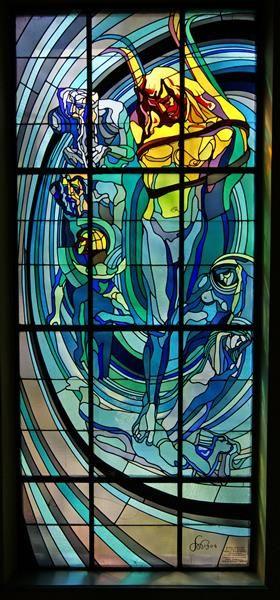 Apollo The Copernican Solar System 1905 Stanislaw Wyspianski Stained Glass Stained Glass Windows Art Nouveau