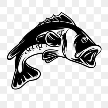 Bass Fish Silhouette Illustration For Fishing Hobby Bass Fish Fishing Png And Vector With Transparent Background For Free Download Fish Silhouette Silhouette Illustration Fish Illustration