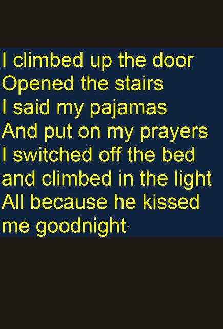 Random Street Theater A Kiss Goodnight Kiss Goodnight Good