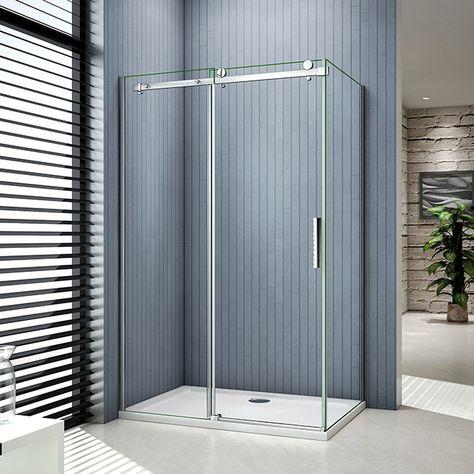 Duschabtrennung Schiebetur Duschkabine Duschwand Dusche Echtglas