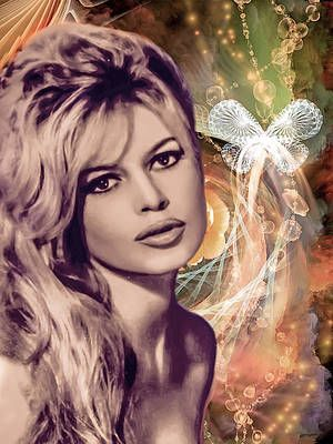 Brigitte Wall Art - Photograph - Brigitte Bardot pop art by Catherine Arnas