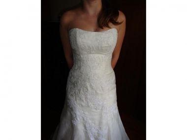 My wedding dress Marisa 737 ivory lace organza Wedding Ideas