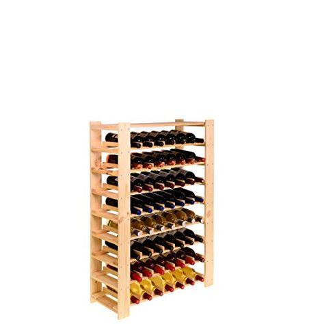 Casier A Bouteilles Etagere A Vin Facile En Bois De Pin Non Traite Moyen Pour 56 Bouteilles H 110 X L 80 X P 29 3 Cm Casier A Bouteille