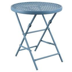 Prime 18 Metal Mesh Folding Patio Accent Table Threshold Alphanode Cool Chair Designs And Ideas Alphanodeonline