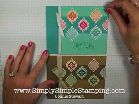 Simply Simple FLASH CARD - Mosaic Thank You by Connie Stewart