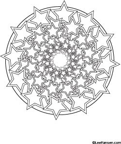 Stars #mandala design #coloringpage - new!