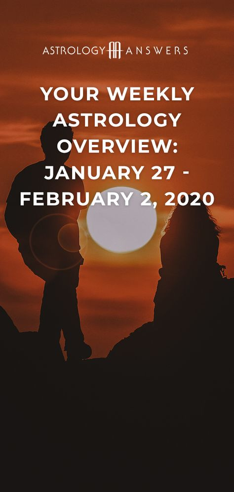 Check out what the stars have in store for you during the astrological week of January 27 - February 2, 2020, in this week's Astrology Overview! ✨ #astrology #astrologyoverview #planets