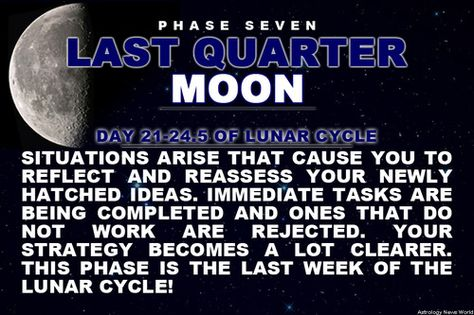 Sign up here to see more: astroconnects.com #moon #moonphases #astrology #horoscope #zodiac #planet #lastquartermoon