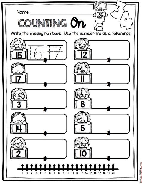 Kindergarten Math Activities and Printables - print free worksheets and math centers - more or less - counting on - counting and cardinality common core math unit - writing and recognizing numbers - teen numbers Cardinality Kindergarten, Kindergarten Math Worksheets, Preschool Math, Kindergarten Counting, Math Activities, Free Worksheets, Counting On, Numbers Kindergarten, Math Games