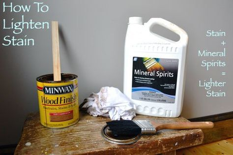 How To Lighten Stain Staining Wood Stain Dark Wood Stain