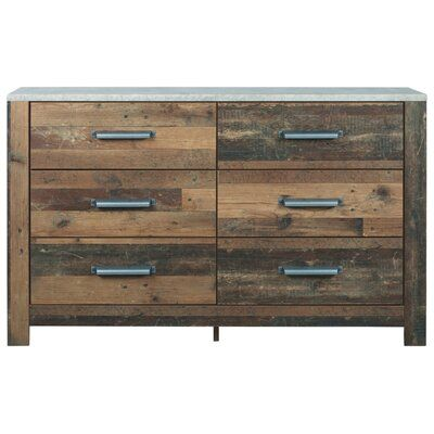 Millwood Pines Tavares 6 Drawer Double Dresser Bedroom Set Double Dresser Bedroom Panel