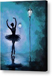 Ballet In The Night Painting by Corporate Art Task Force - Ballet In The Night Fine Art Prints and Posters for Sale