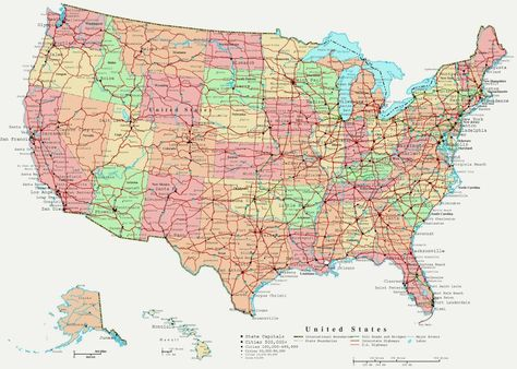Highway Map In California People Referring To Highways Or Freeways
