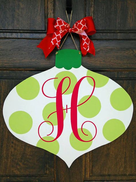 Hey, I found this really awesome Etsy listing at https://www.etsy.com/listing/210658305/monogrammed-christmas-door-hanger