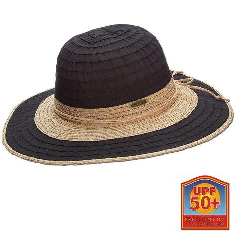 b1d214621db Raffia Straw And Ribbon Big Brim Sun Hat 3 1 2