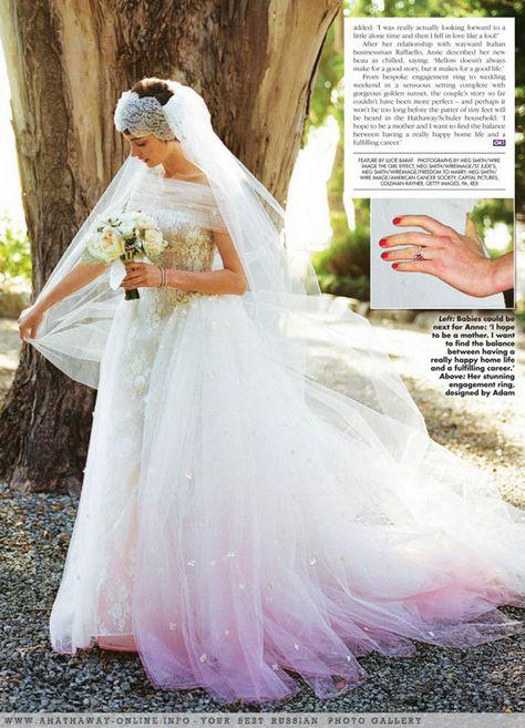 Anne Hathaway on Pinte... Anne Hathaway Wedding Dress