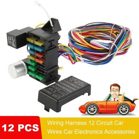 12 PCS Wiring Harness 12 Circuit Car Wires Car Electronics ... Walmart Wiring Harness Pins on 12 pin voltage regulator, toyota stereo wiring harness, 12 pin power supply,
