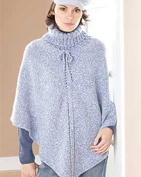Youll be as cozy as can be in this pretty turtleneck poncho. 2 sizes: 32-44 free pattern