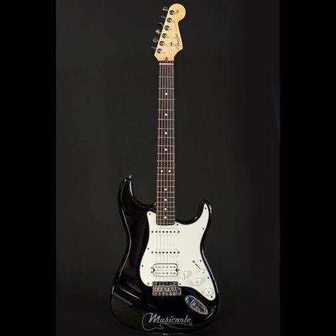 FENDER American Standard Stratocaster® HSS Black  RW Rosewood Neck - Musicarte strumenti musicali