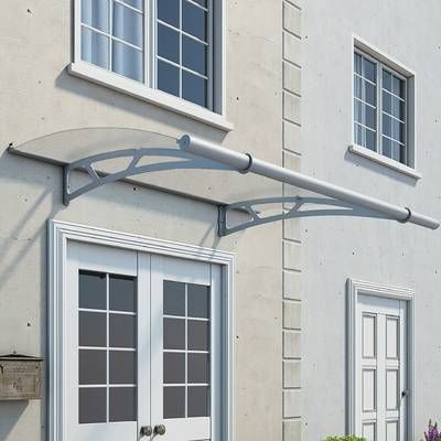 Lily Victorian 6 Ft W X 4 Ft D Plastic Standard Door Awning Window Awnings Polycarbonate Roof Panels Windows Doors