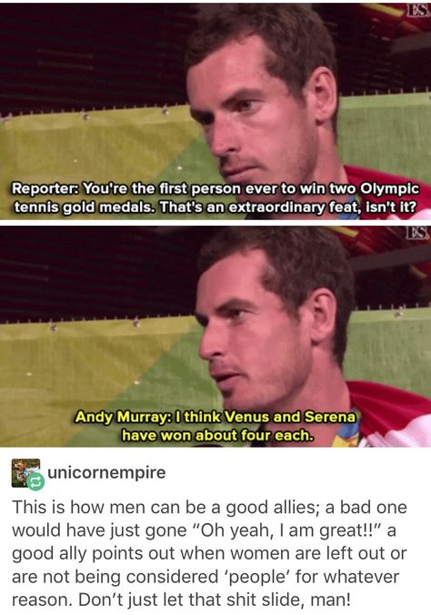 I respect Andy Murray even more now, what a considerate, humble and truly inspirational athlete. I am so proud to be British right now, after such a bad year.