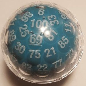 16 Gamescience 100 Sided Die With Images Christmas Bulbs Holiday Decor Blue