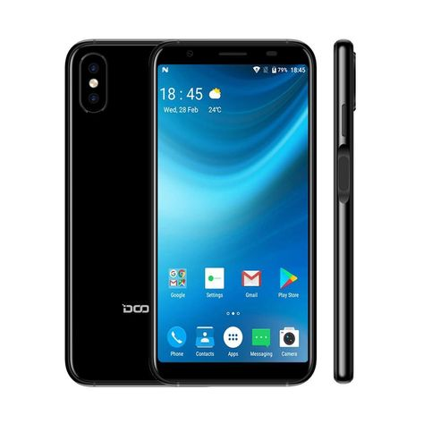 DOOGEE X55, 5.5Android 7.0 MTK6580 Quad Core 16GB  8.0MP - Gift Case And Film / Blue