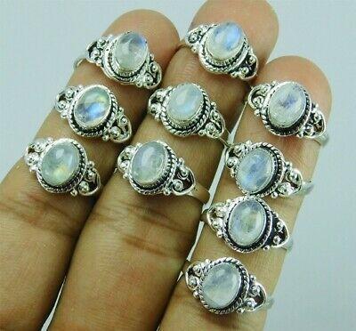 Labradorite Amethyst Moonstone /& Mix Gemstone Lot 925 Silver Plated Rings