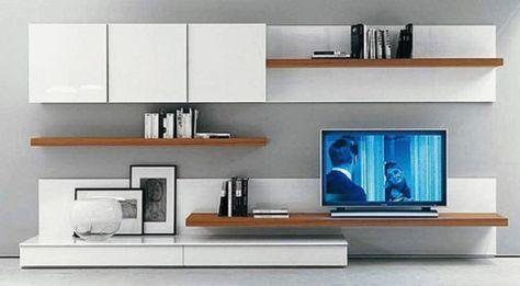 muebles modernos para tv Wall Tv Pinterest Wall tv, Tv units