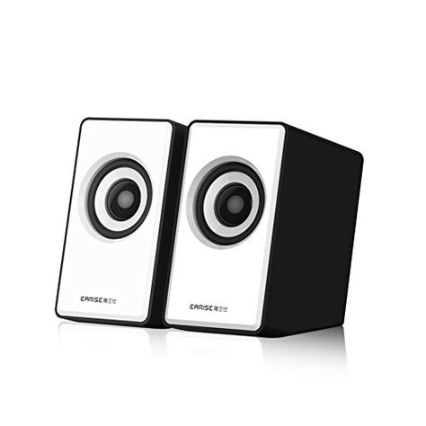a1c8fc60181 Introducing EARISE H2 Mini USB Powered 21 Stereo Computer Speakers with  Subwoofer White. Great Product and follow us to get more updates!