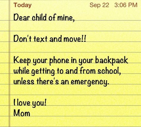 30 Second Mom - Dr. Bridget Boyd: Rule for Kids with Mobile Phones: Don't Text While Moving