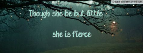 Though She Be But Little She Is Fierce Fb Cover Facebook Cover
