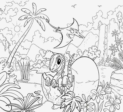 Mountain Waterfall Marsh Lands Prehistoric Volcano Drawing Sweet Baby Dinosaur Eggs Coloring Cl Dinosaur Coloring Dinosaur Coloring Pages Coloring Pages Nature
