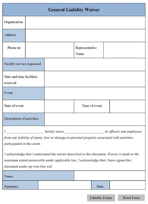 Medical Liability Release Form legal Pinterest - liability waiver template free