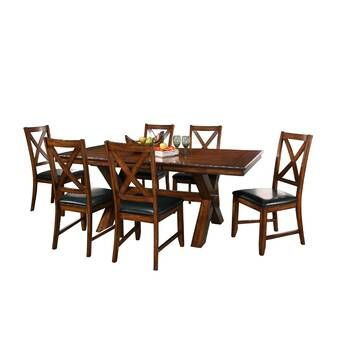 Poe Extendable Dining Set In 2020 With Images 7 Piece Dining