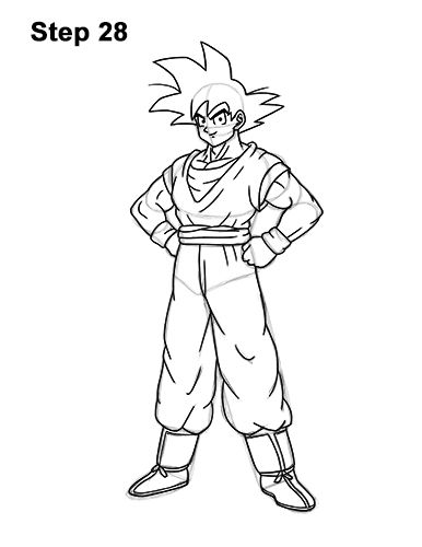 How to Draw Goku Step by Step - Easy Drawings for Kids