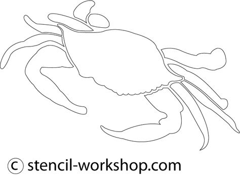 crab stencils | We made many variety of Crab stencil, if you require more crab stencil ...